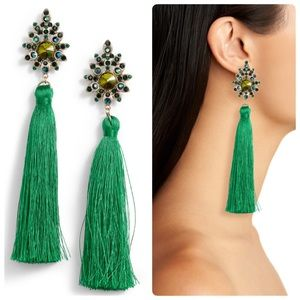TASHA Beaded Post Tassel Drop Earrings